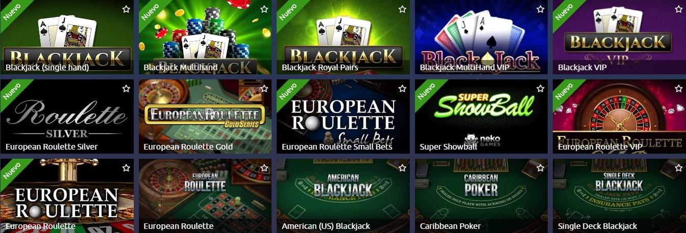 Lista juegos