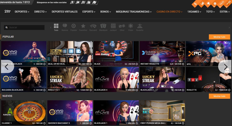 Casino en vivo 1xbit Casino