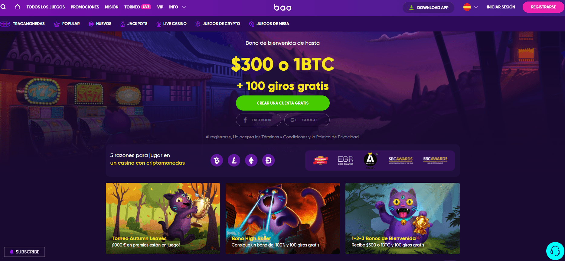 Promociones bao casino