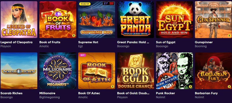 lista de juegos bao casino
