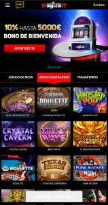 Magicazz Casino versión móvil