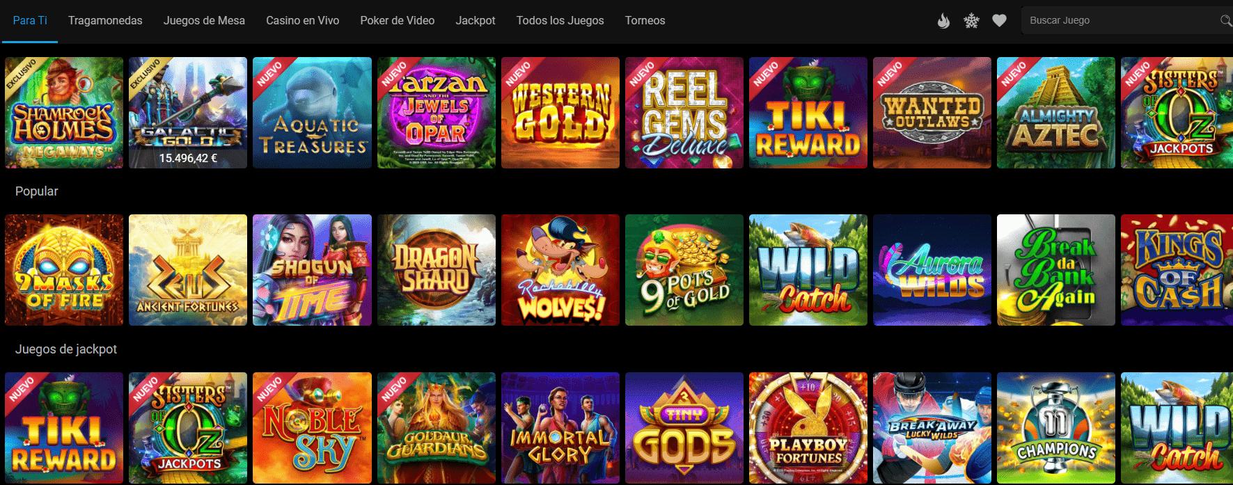 lista de juegos lucky nugget casino