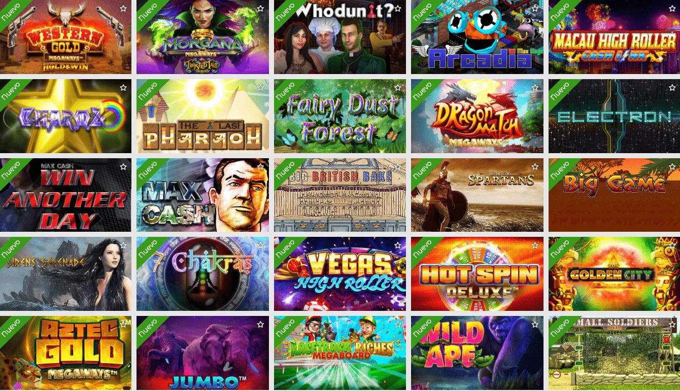 Lista de juegos