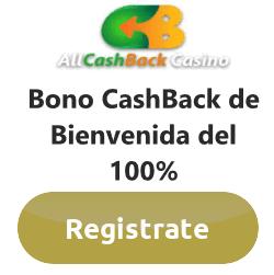 promoción all cashback casino