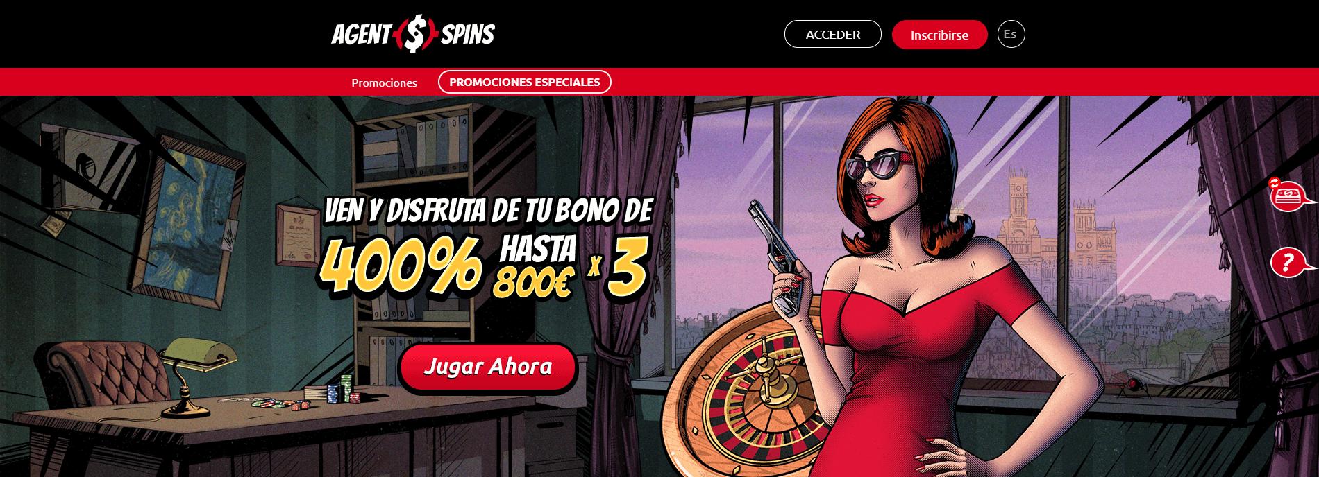 Agent Spins Promociones