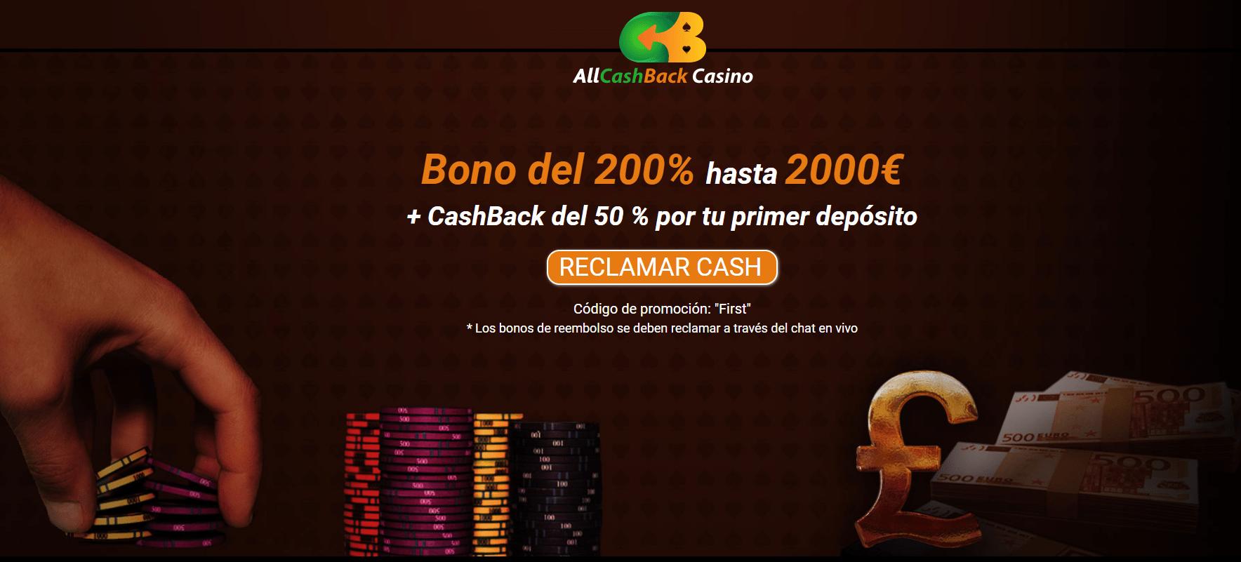 Promociones All cashBack casino