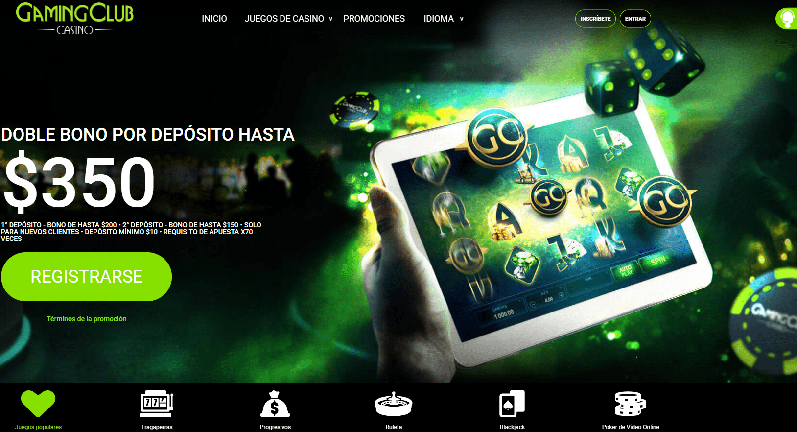 Gaming Club Casino Promociones