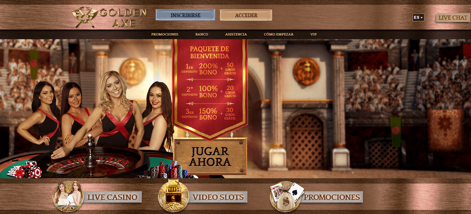 golden axe casino promociones