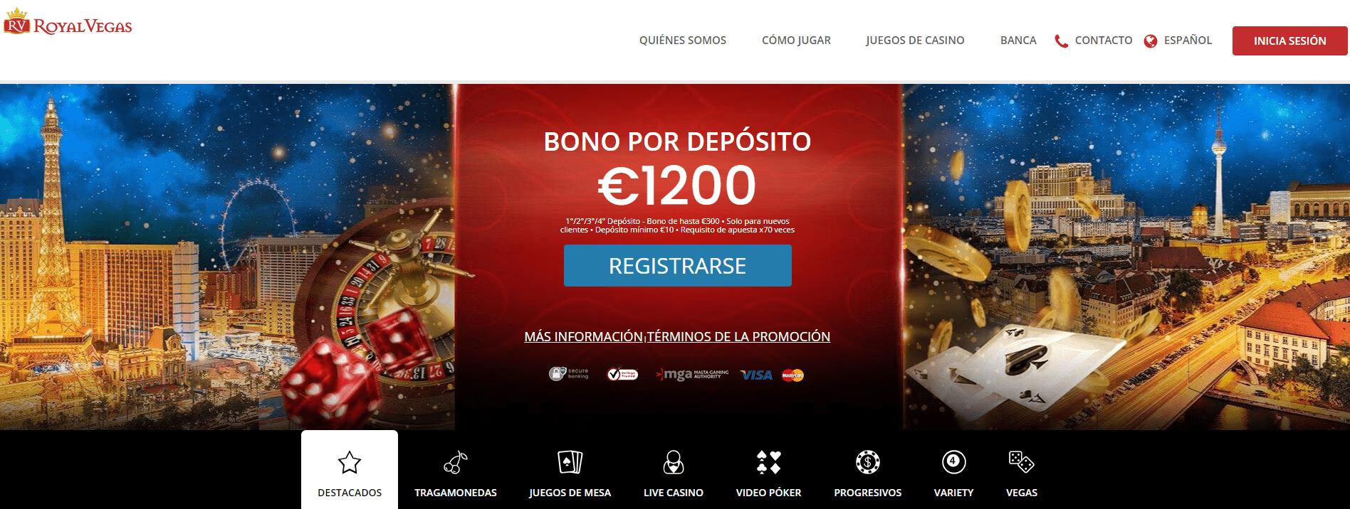 Royal vegas Casino promociones