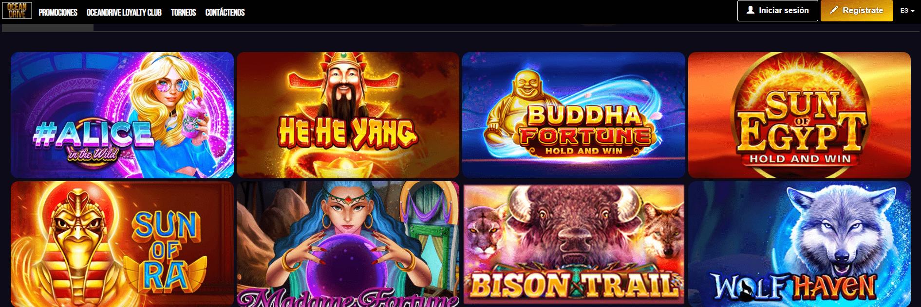 lista de juegos ocean drive casino