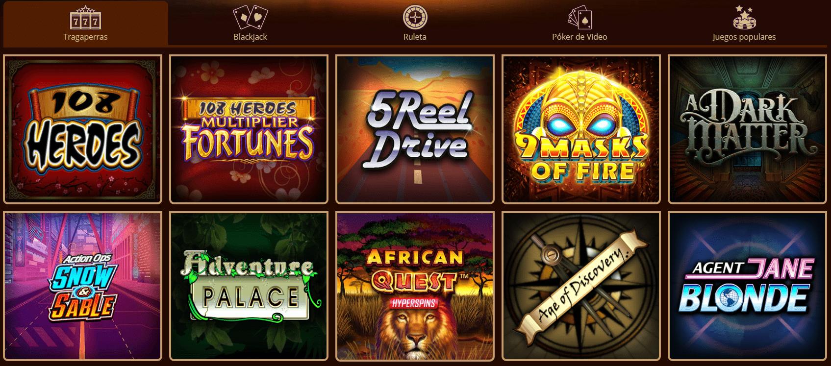 Lista Juegos River Belle Casino
