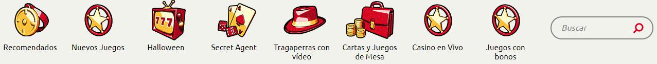 Busqueda de juegos Agent Spins Casino