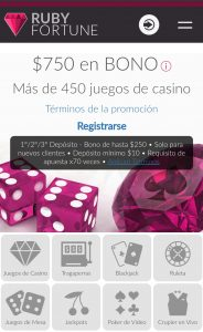 Ruby Fortune Casino móvil