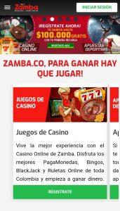 Zamba apuestas y casino online versión móvil