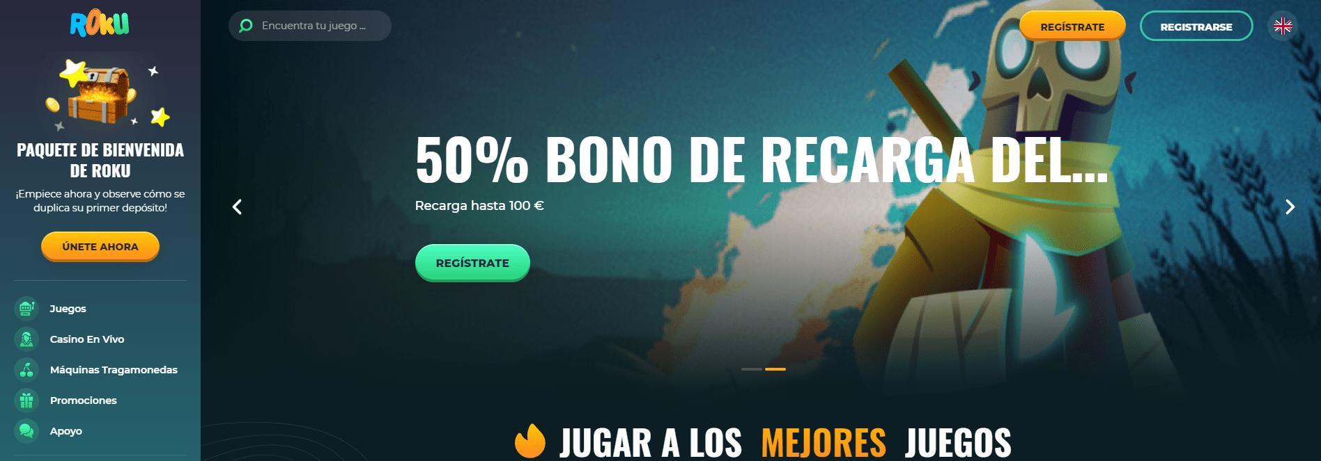 Roku Casino bono de bienvenida