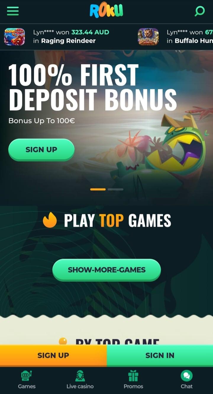 Roku Casino Versión Móvil