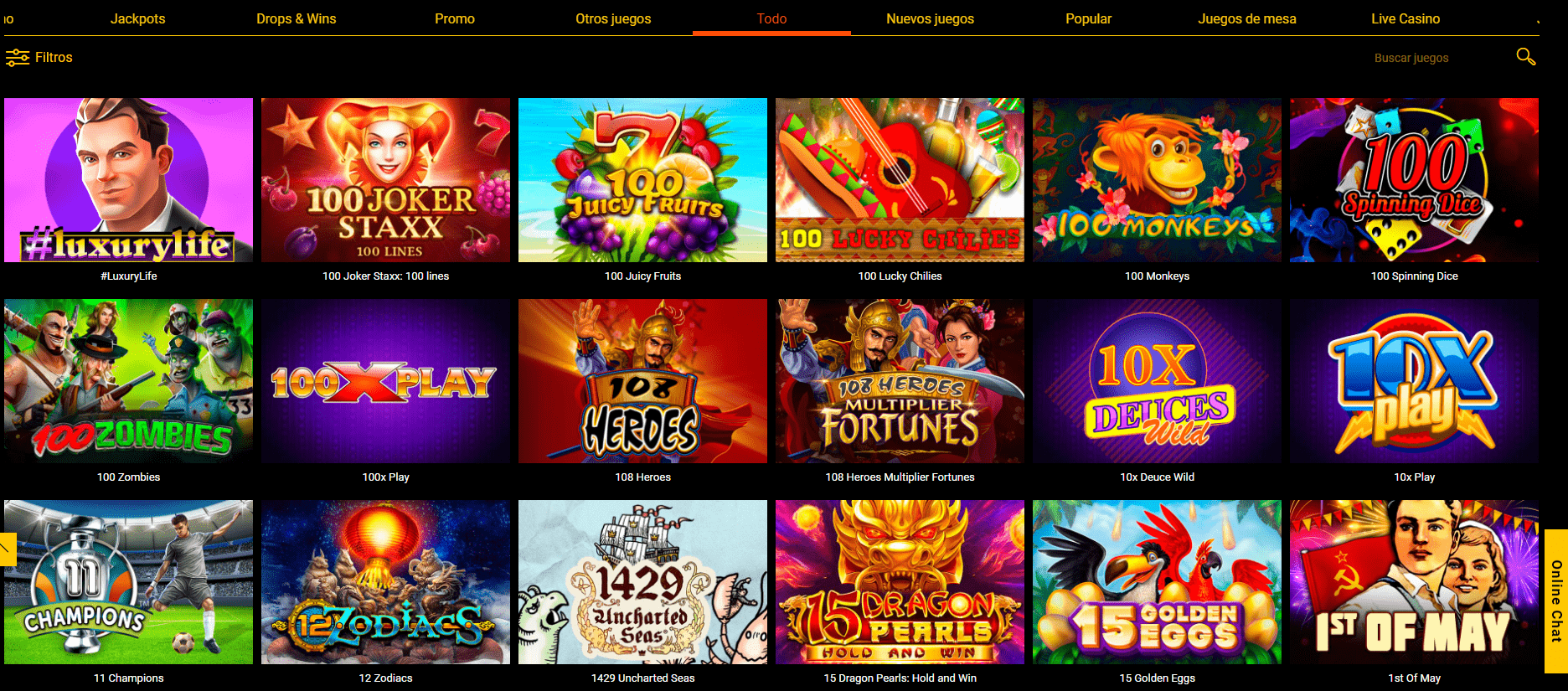 lista de juegos spinamba casino