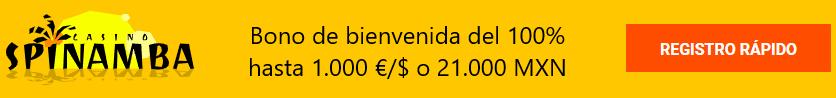 bono de bienvenida de Spinamba casino