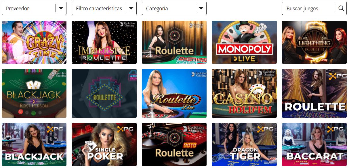 Casino en vivo en SuperCat Casino
