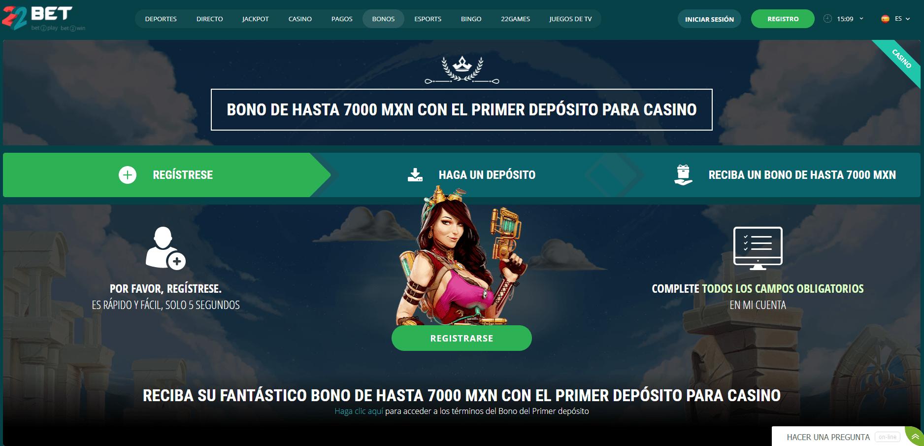 22Bet Casino Promociones México