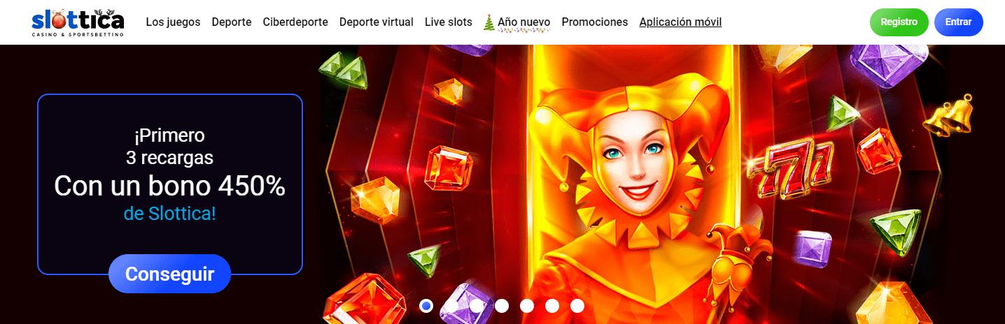 Slottica Casino Bono de bienvenida
