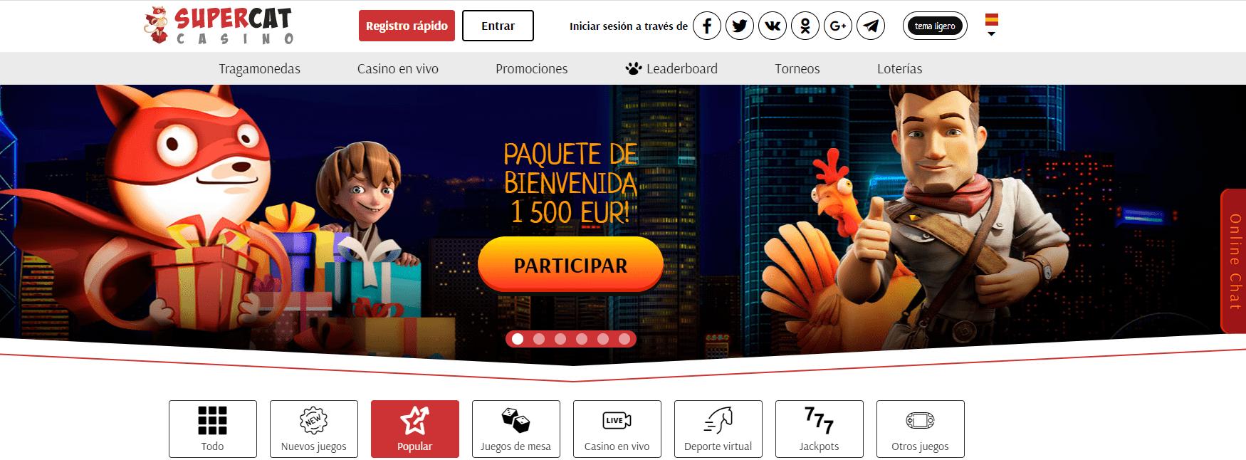 SuperCat Casino Bono de bienvenida