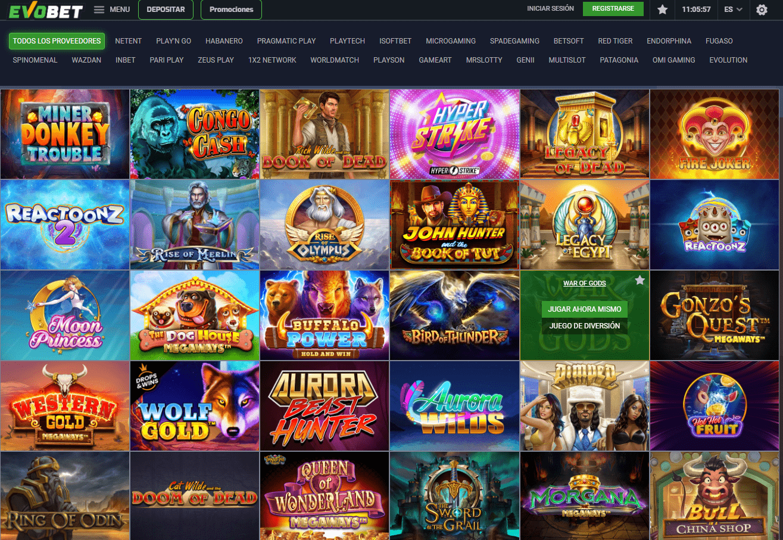 juegos EvoBet Casino