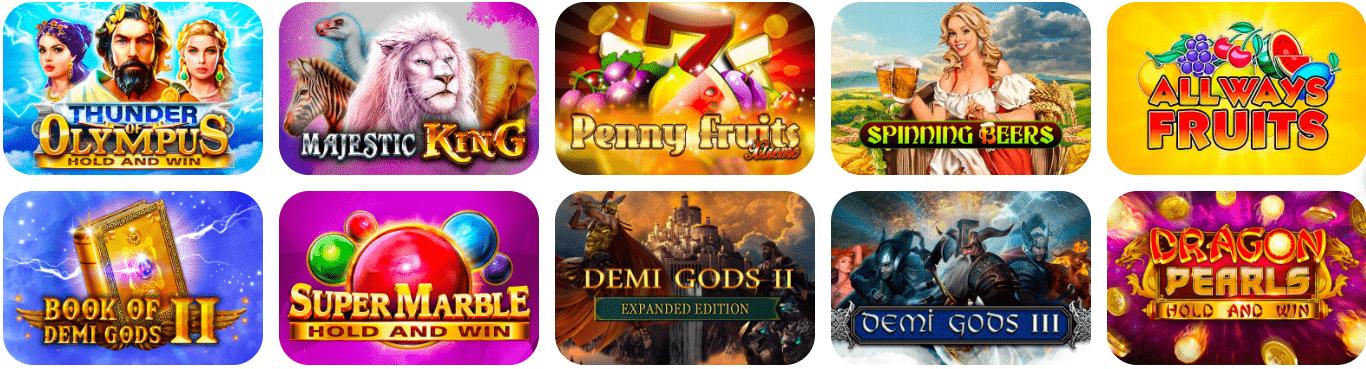 Lista de juegos All Right Casino