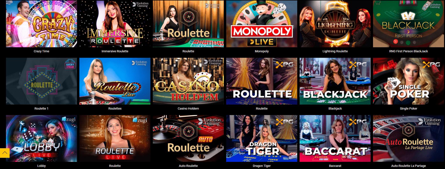 Live casino en Spinamba Casino