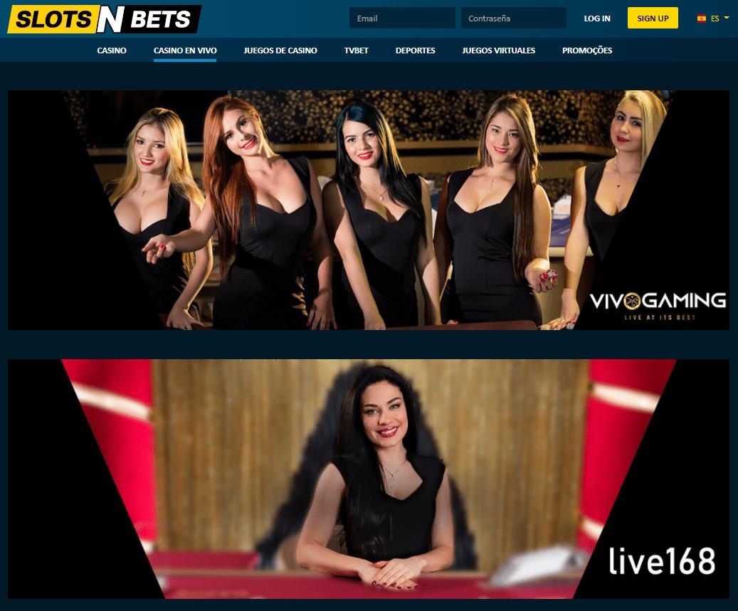 SlotsNBets Casino en vivo