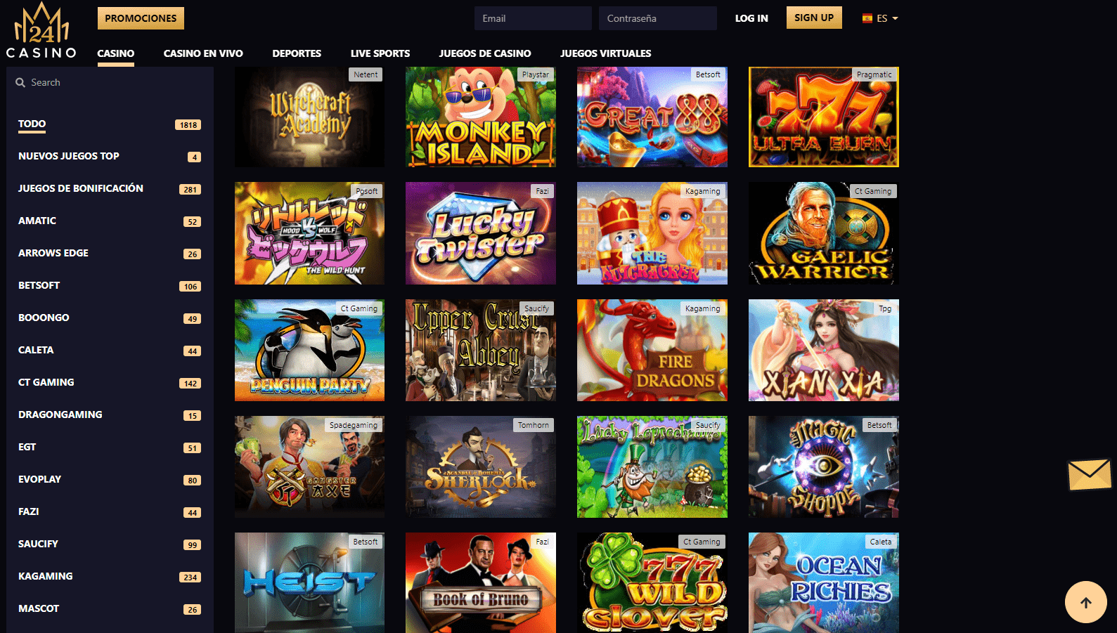 juegos 24 Mónaco casino