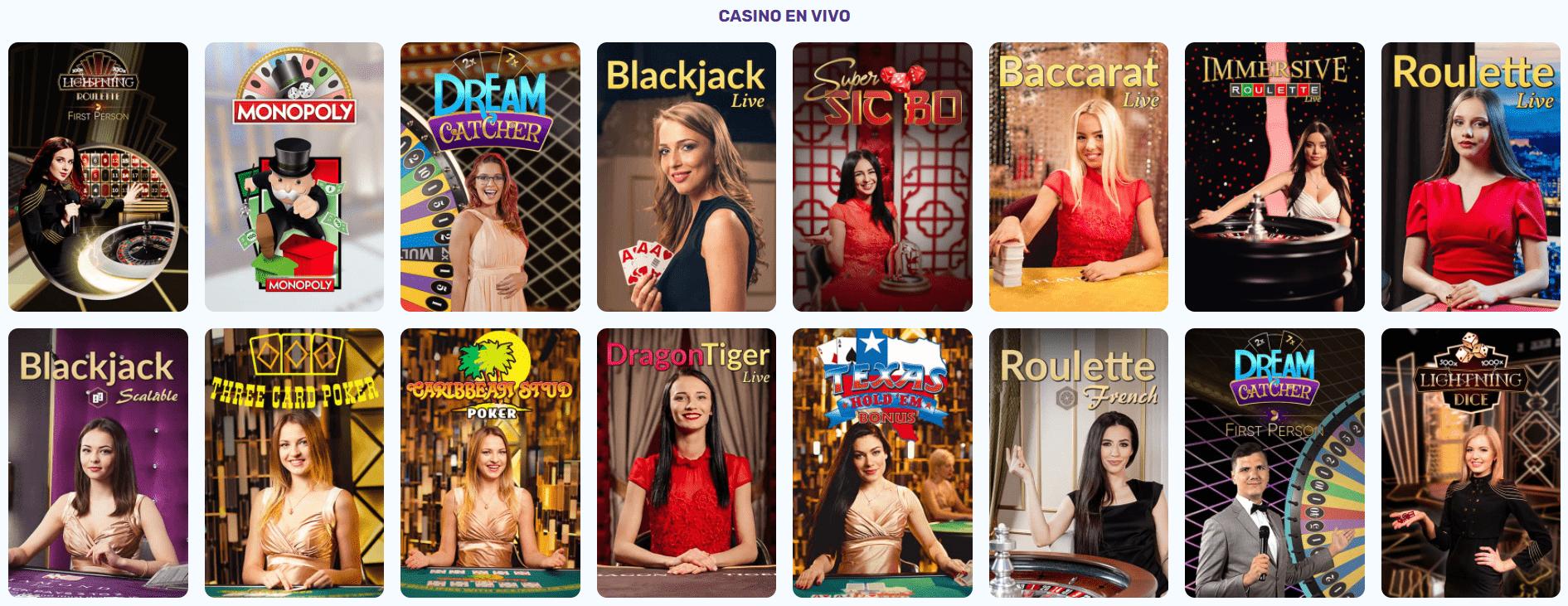Casino en vivo de slots palace casino